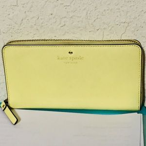 Kate Spade yellow large wallet